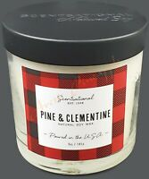 Scentsational Natural Soy 5oz Single Wick Candle Black Lid - Pine & Clementine