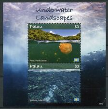 Palau 2017 MNH Underwater Landscapes Jellyfish 2v S/S Tourism Nature Stamps