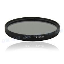 72mm CPL Circular Polarizing Filter Lens Protector For Canon Nikon Sony Samsung