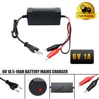 6V 1A Intelligent Chargeur de Batterie Plomb-Acide Voiture Moto Auto EU Plug