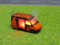 Spur N TT Ford Transit Bus Vollbrand Brennend 12V LED Feuer Laser Cut 1:160 #24