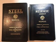 Set of AISC Steel Construction Manual Thirteenth Edition & Seismic Design Manual
