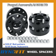 "Fit Dodge Ram 1500 5x5.5 1.5"" Thick 9/16 Hub Centric Wheel Spacers Adapters"