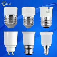 LAMPEN SOCKEL ADAPTER B22 GU10 E27 E14 FASSUNG STECKER GLÜHBIRNE KONVERTER LAMPE
