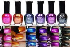 6 PCS New Kleancolor FULL SIZE METALLIC LOT Nail Polish Colors SET