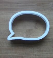 Speech Bubble Cookie Cutter Biscuit Pastry Fondant Stencil Thought Bubble SH14
