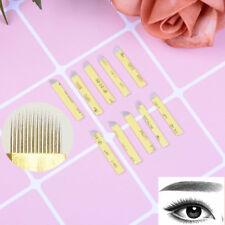 20X Microblading Eyebrow Tattoo Permanent Makeup  Blade 14 U Shape Needles   I