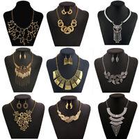 Fashion Jewelry Charm Chain Choker Chunky Statement Bib Pendant Women Necklace