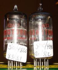 Strong & Balanced Pair of Sonotone Telefunken Brimar 12at7 Ecc81 Vacuum Tubes