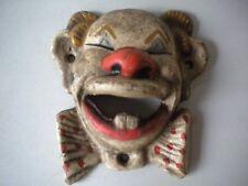 Clown Cast Iron Bottle Opener, Wall Mounted Antique Finish, Garage Bar Man Cave