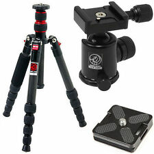 HORUSBENNU M-2531T D-SLR Traveler Camera Tripod Ball Head LX-28T [Black] w/ Case