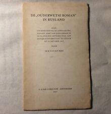 De ouderwetse roman in Rusland 1957 rede Universiteit Leiden van het Reve