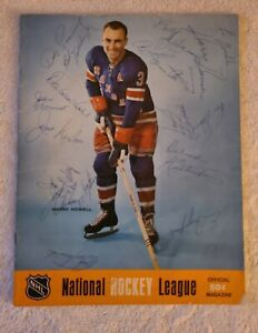 VINTAGE 1968 NHL NEW YORK RANGERS AT PITTSBURGH PENGUINS PROGRAM 17 AUTOGRAPHS