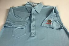 Orange Tree Polo Shirt VTG Mens SZ M/L Pickering Blue Golf Club Front Pocket