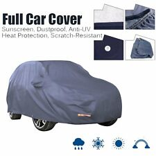 Full SUV Car Cover w/Lock Blue Waterproof Breathable Sun UV Rain Dust Resistant
