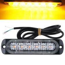 12v/24V 6 LED Amber Emergency Recovery Strobe Flashing Lights Orange Breakdown