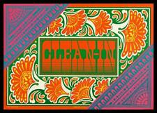 Psychedelic era poster Clean-In Victor Moscoso Neon Rose 15