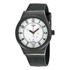 Swatch Sistem Chic Automatic White Dial Black Silicone Unisex Watch SUTB402