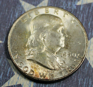 1950-D Franklin Silver Half Dollar Collector Coin for Collection. FREE SHIPPING