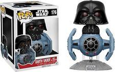 """ESCLUSIVO Star Wars Darth Vader con Tie Fighter 3.75 """" POP VINILE Statuetta"""