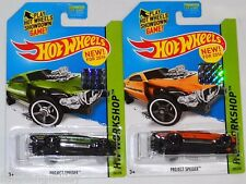 2014 HOT WHEELS FACTORY SET WORKSHOP PROJECT SPEEDER X2 BOTH COLORS