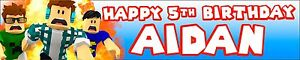2 x  ROBLOX PERSONALISED BIRTHDAY BANNERS