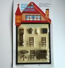 Living Room Furniture Set tiny plastic Dolls House Miniatures Crafts F7096