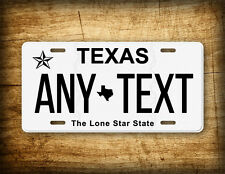 "TEXAS Personalized License Plate Customized Auto Tag ""ANY TEXT"" 6x12 Sign TX"