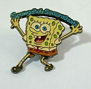 Vintage Universal Studios Sponge Bob Squarepants Pin Badge With Moving Legs