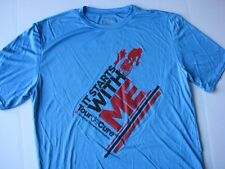 Tour de Cure American Diabetes Association Cycling Logo Performace T Shirt Sz L