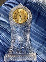 Vintage Park Avenue Glass Analog Crystal Clock Decoration