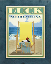 Duck, NC (Framed) Vintage Art Deco Style Travel Poster -by Aurelio Grisanty