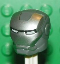 LEGO - Minifig, Headgear Helmet Silver Face Shield & White Eyes (War Machine)