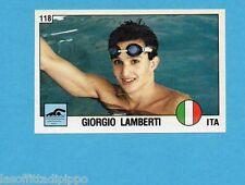 SUPERSPORT 1988-PANINI 88-Figurina n.118- LAMBERTI - ITALIA -NUOTO-Rec
