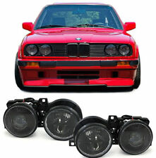 SMOKED PROJECTOR STYLE HEADLIGHTS HEADLAMPS FOR THE BMW E30 3 SERIES  V4
