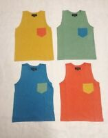 NEW Boys 4 Pack Cotton Vest Top T-Shirt Sleeveless Summer Bundle Kids Age 6 - 15