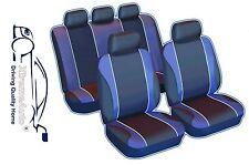 9 PIECE NAVY BLUE SPORTS SEAT COVERS  VW Volkswagen Golf Polo Bora Jetta