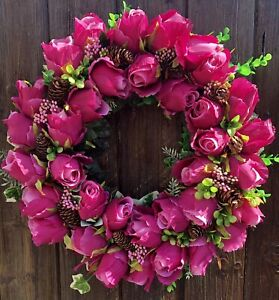 ARTIFICIAL FLOWER DOOR WREATH