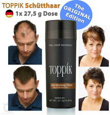 TOPPIK Hair Building Fibers Streuhaar Schütthaar • MITTELBRAUN / MEDIUM BROWN