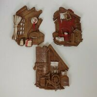 Vintage Sexton 1976 Metal Wall Hanging Plaques - Old West Home Scenes