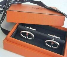 NEW Authentic Hermes Marine chaine d'ancre Silver french shirt cufflinks Mens