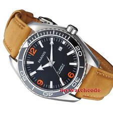 45mm parnis black dial ceramice bezel Sapphire Glass miyota automatic mens Watch