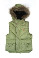 WESC Padded Puffer Puffa Jacket Gilet Vest Insulated Coat, Green, Ladies Small S