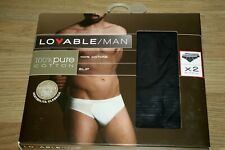 Mens cotton stretch Briefs Slips Italian brand Lovable twin pack size XL
