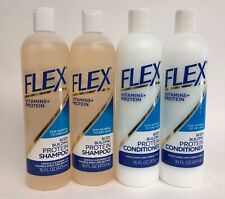 4PK FLEX Body Building Protein SHAMPOO CONDITIONER For Normal to Dry Hair 16 oz