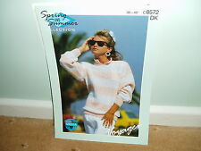 Sirdar knitting pattern for ladies long sleeved striped  top -8572 - NEW