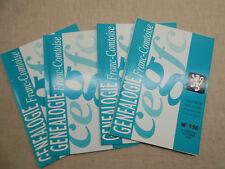 LOT Généalogie Franc-Comtoise 4 Bulletins Année 2008 Complète Franche-Comté