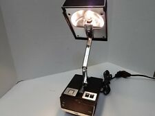 Vintage Folding Desk Lamp Digital Alarm Clock  5500A Cosmo Time Lamp Works