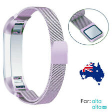 New Color Stainless Steel Replacement Band Strap Fitbit Alta/ Alta HR purple