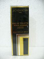 J. CASANOVA Eau de Toilette Pour Homme Spray 100ml NEW in SEALED BOX RARE